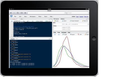 Running R on an iPhone/iPad with RStudio
